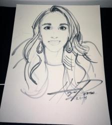 Sheri Fink Angel Portrait from Artist Hugo Romo